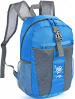 Bago Lightweight Backpack. Waterproof Collapsible Rucksack for Travel and Sports. Foldable and Packable Daypack for Adults, Teens and Children.