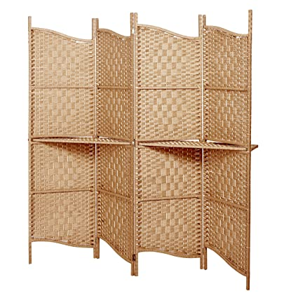 Amazoncom Freestanding Brown Wood Woven Paper Rattan Room