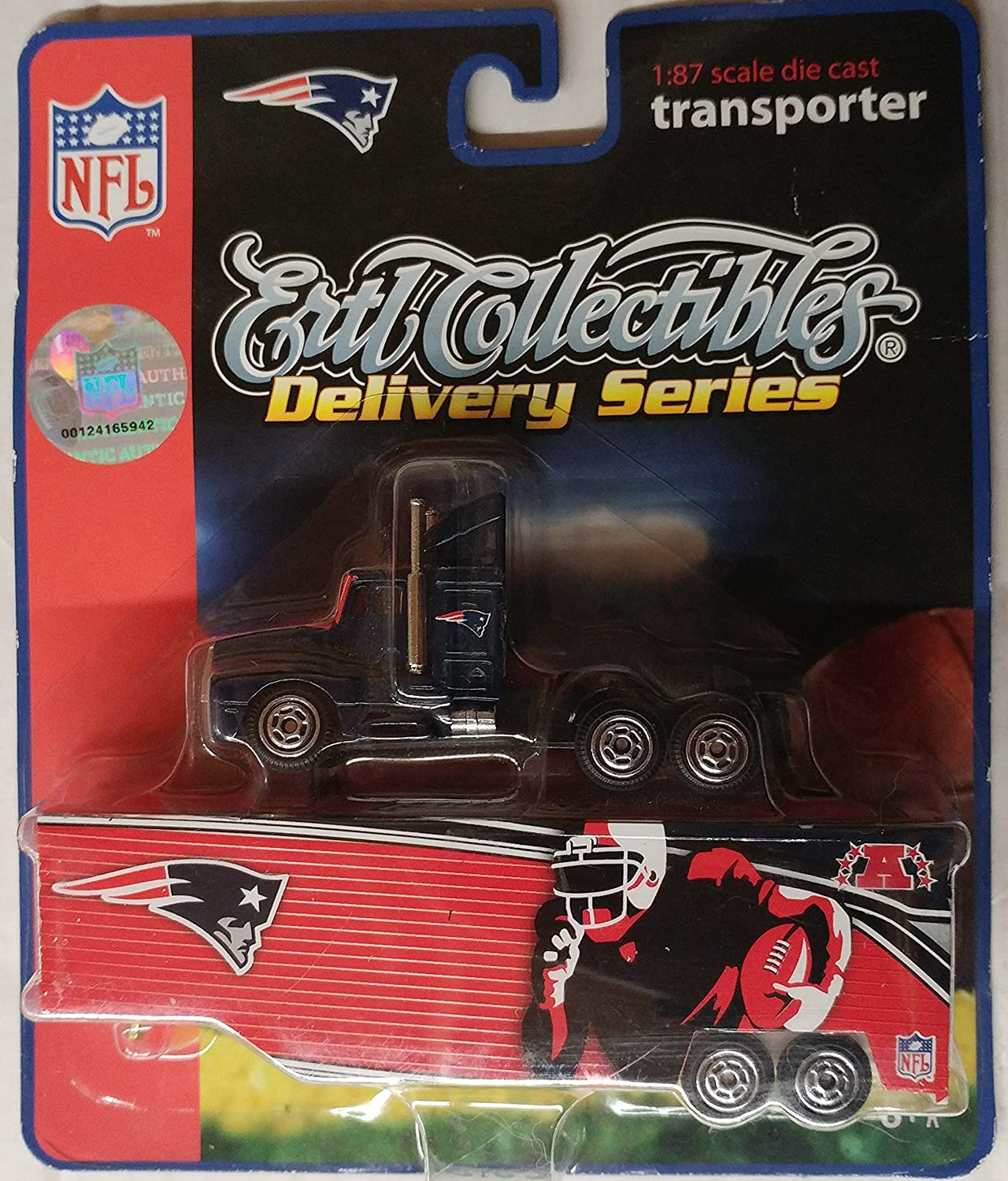 2006 NFL New England Patriots 1:87 Scale Die Cast ERTL Transporter Truck Delivery Series