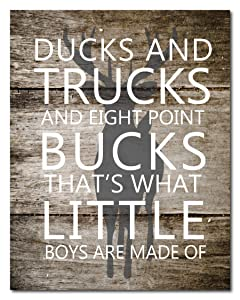Perham Printing Designs What Little Boys are Made of – Decorative Foam Core Sign – 11x14 inches