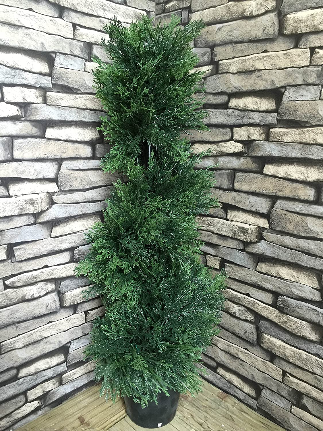 Best Artificial (TM) 2ft 60cm Cedar Conifer Spiral Topiary Tree **UV Fade Protected**