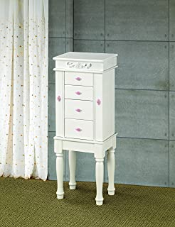 Amazoncom Coaster 900144 Jewelry Armoire Cherry Kitchen Dining