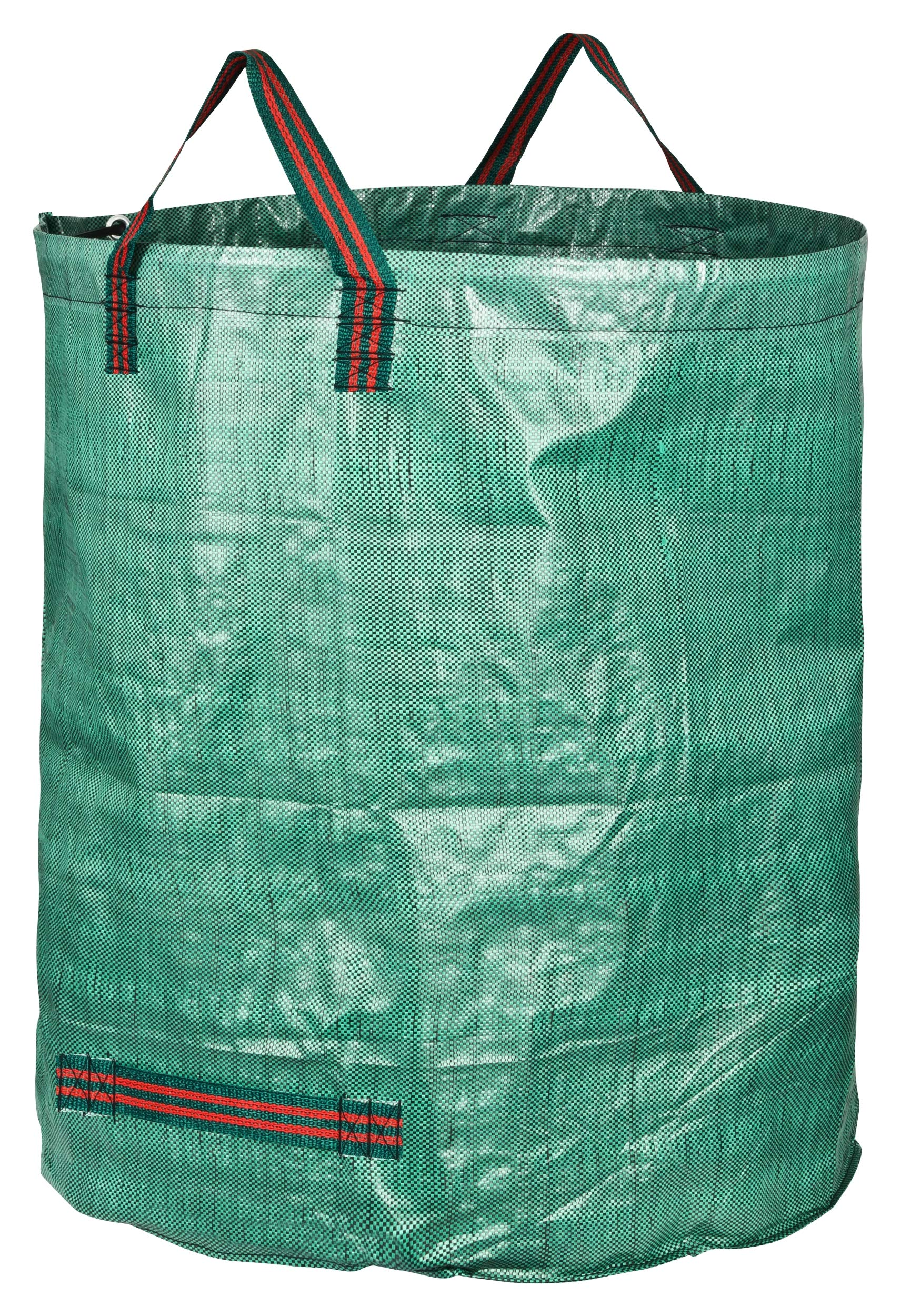 GardenMate 6-Pack 80 Gallons Professional Reusable Garden Waste Bags (H33, D26 inches) - Yard Waste Bags with Double Bottom by GardenMate