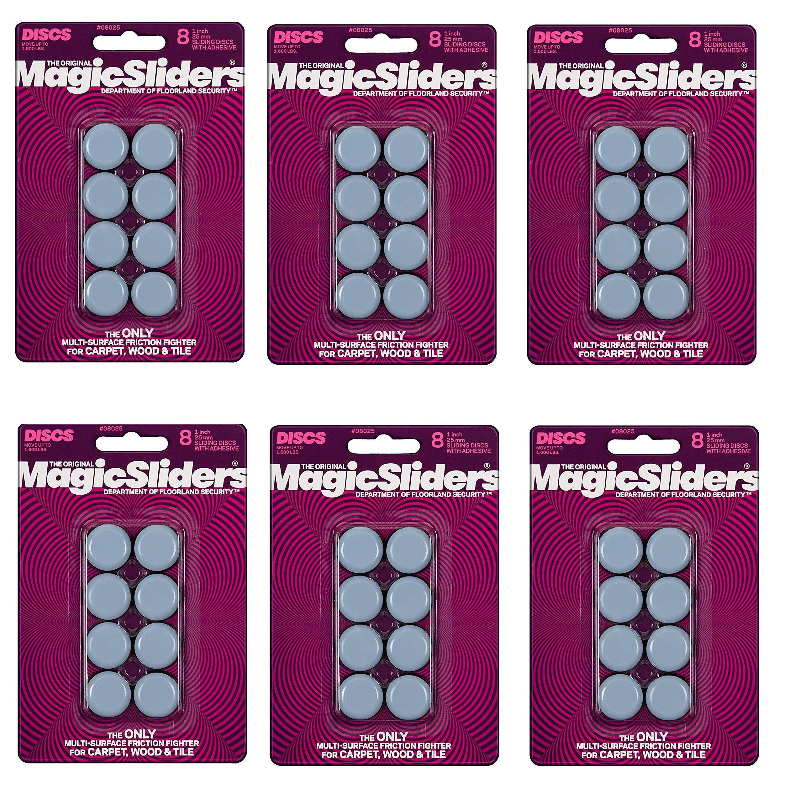 Magic Sliders 8025 Serie 1in. Round, Blue, 6 Pack, 48 Total