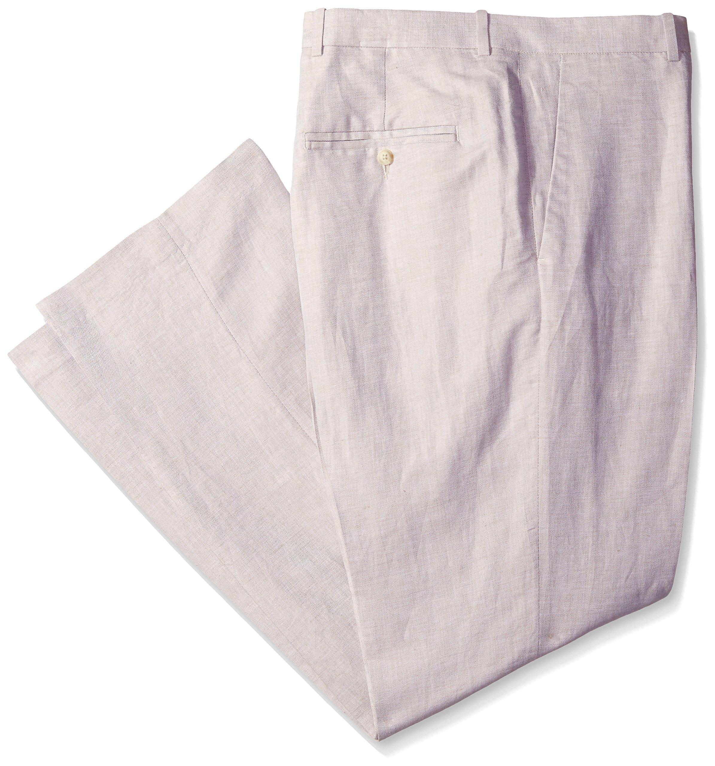 Perry Ellis Men's Big-Tall Linen Suit Pant, Natural Linen, 48W X 30L