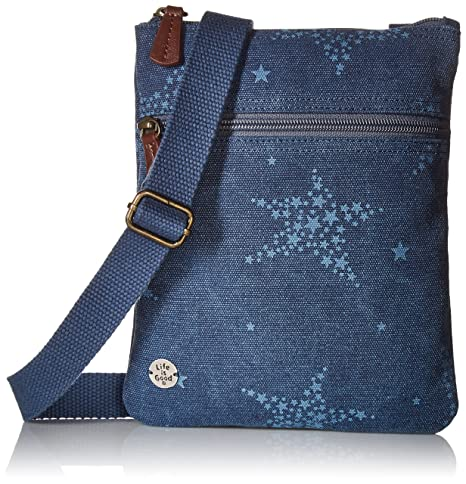 10802ab41bf0 Life is Good Wander Free Crossbody All Over Stars Outdoor Backpacks