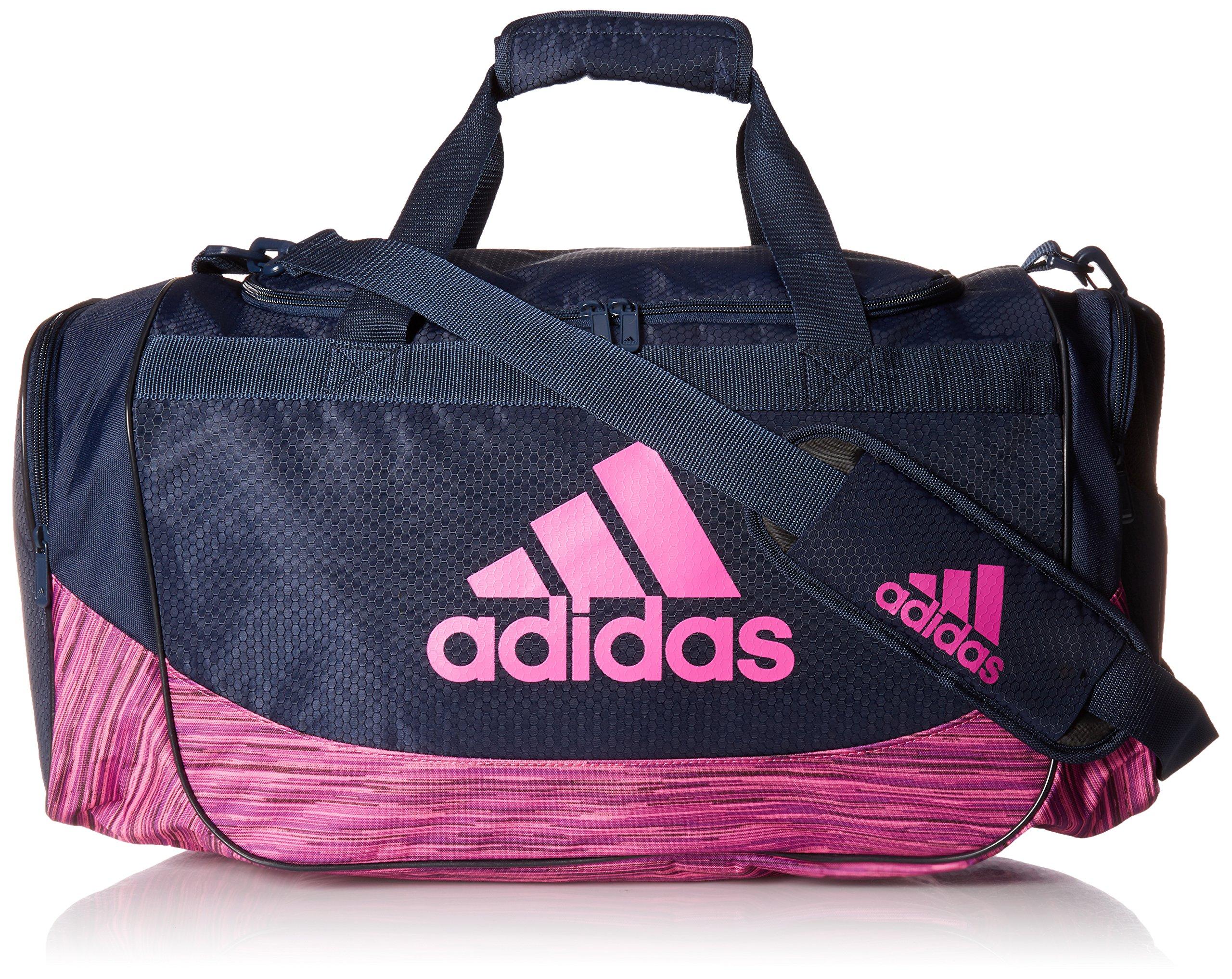 adidas Unisex Medium Defense Duffel Collegiate Navy/Shock Pink/Shock Pink Looper One Size