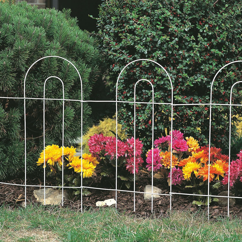 Amazon.com : Panacea 89301 Arch Folding Border Fence, Green : Outdoor  Decorative Fences : Patio, Lawn U0026 Garden
