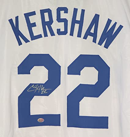 0e28bda03 Clayton Kershaw Los Angeles Dodgers Signed Autographed White  22 Custom  Jersey at Amazon s Sports Collectibles Store
