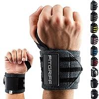 Fitgriff Handgelenk Bandagen [Wrist Wraps] 45 cm Handgelenkbandage für Fitness, Bodybuilding, Kraftsport & Crossfit - für Frauen und Männer - 2 Jahre Gewährleistung