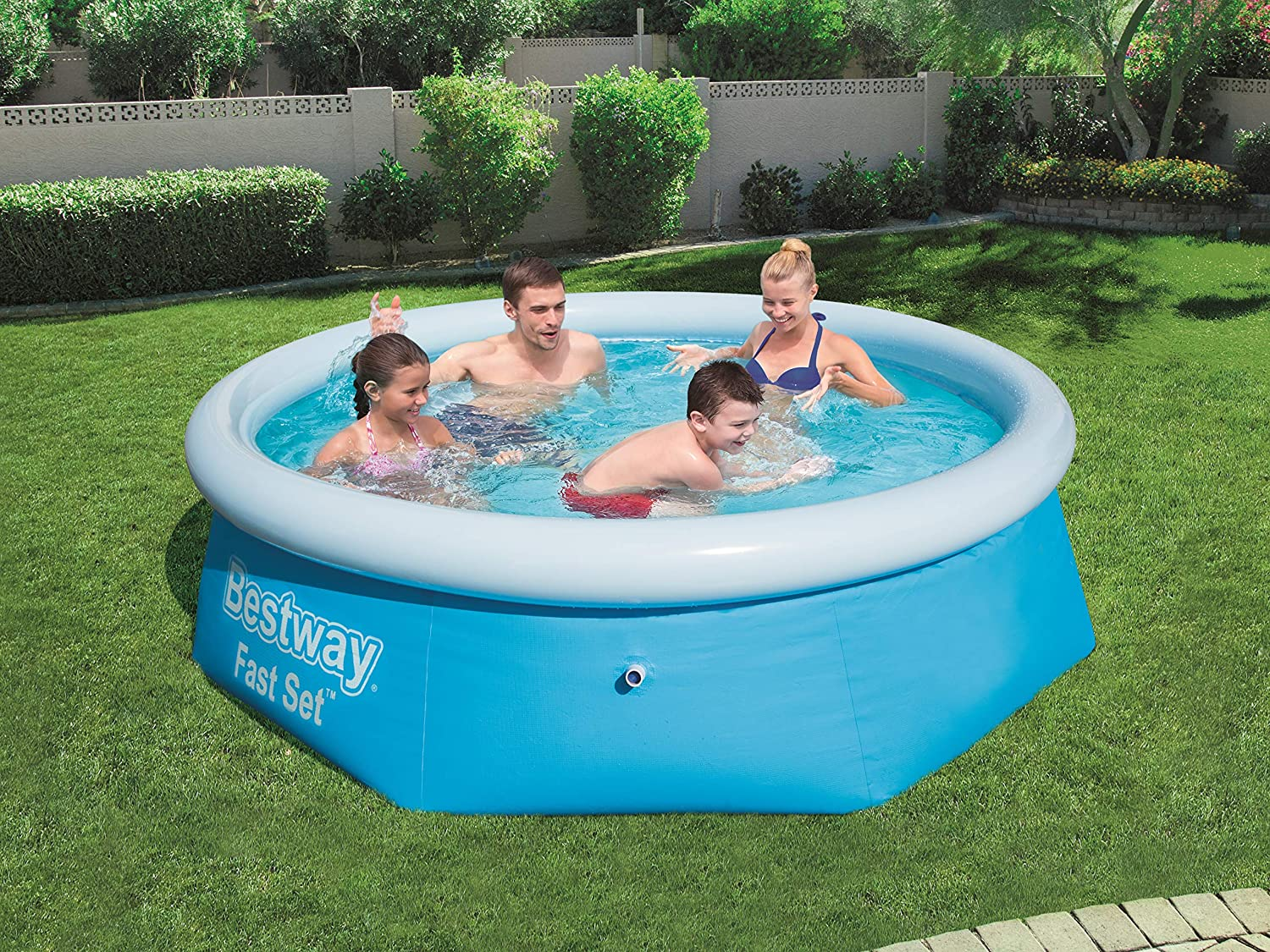 Piscina Desmontable Autoportante Bestway Fast Set 244x66 cm: Amazon.es: Juguetes y juegos