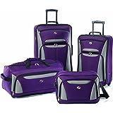 American Tourister Luggage Fieldbrook II 4 Piece Set, Purple/Grey, One Size