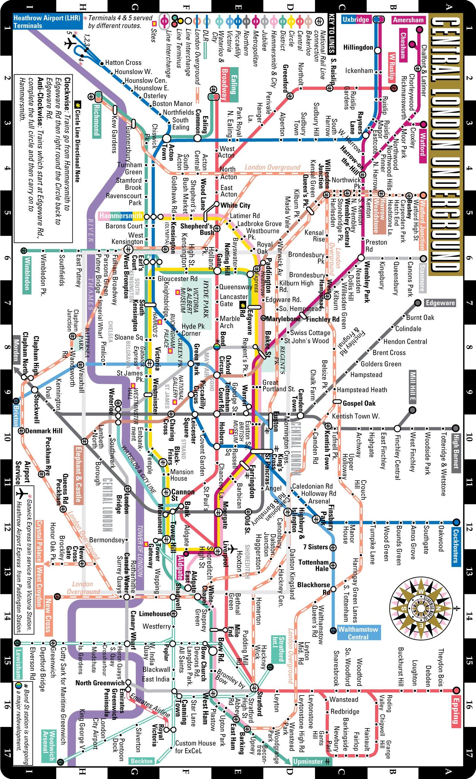 Streetwise London Underground Map The Tube Laminated London Metro Map Folding Pocket Size Subway Map For Travel Streetwise Maps Inc 9781931257664 Amazon Com Books