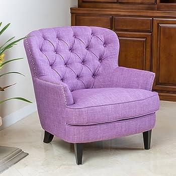 Attrayant Christopher Knight Home 296539 Tafton Tufted Fabric Club Chair, Light Purple