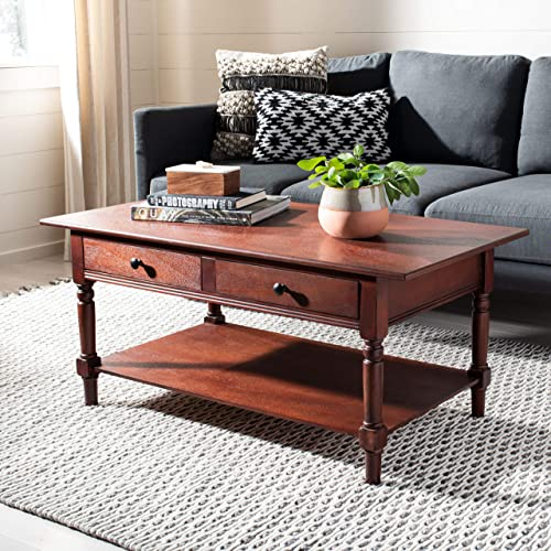 Safavieh American Homes Collection Boris Dark Cherry Coffee Table