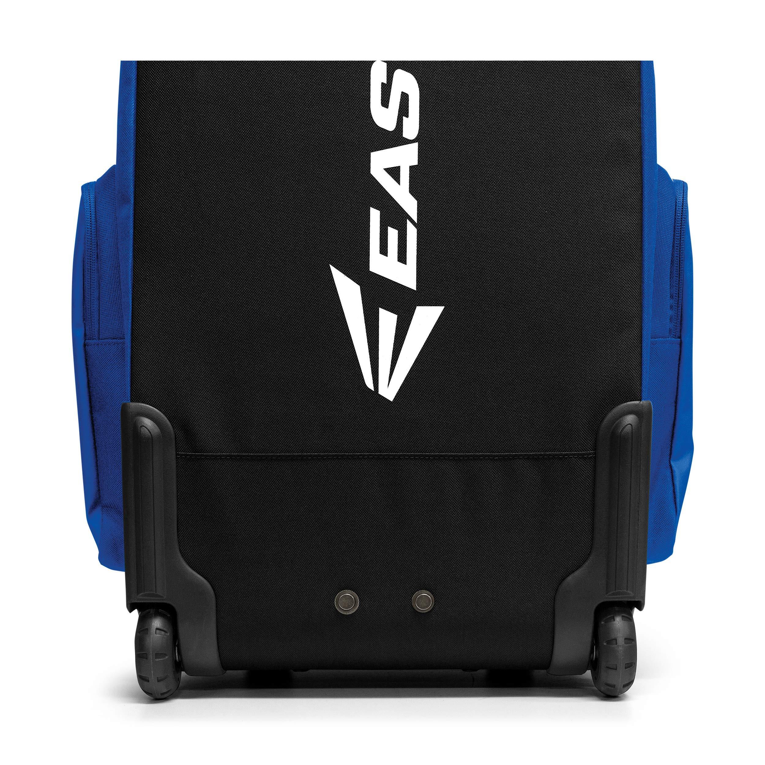 EASTON TRAVELER Bat & Equipment Wheeled Bag | Baseball Softball | 2019 | Orange | 4 Bat Sleeves | Vented Gear & Shoe Compartments | 2 Side Zippered Pockets | Telescope Handle | Stands Up | Fence Hook by Easton (Image #4)