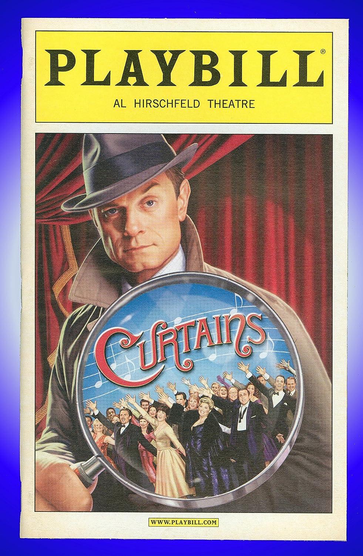 Curtains, Broadway Playbill + David Hyde Pierce, Debra Monk, Ernie Sabella, Jill Paice Karen Ziemba Jason Danieley Edward Hibbert John Bolton John Kander