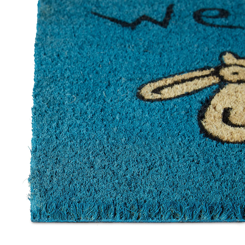 Relaxdays Fußmatte Kokos Schaf 9 x 9 cm Kokosmatte mit ...