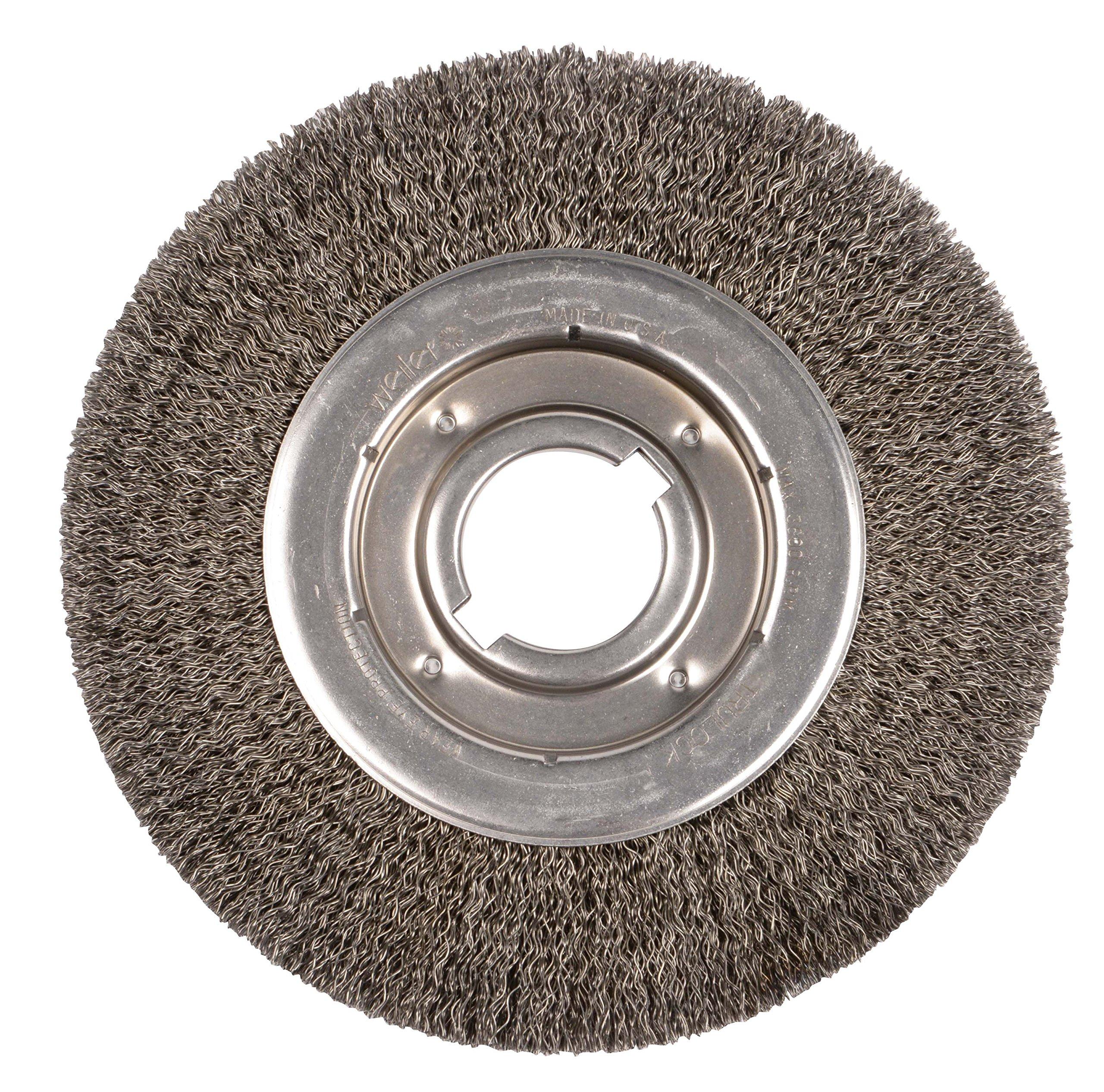 Weiler 6170 Face Crimped Wire Wheel, 10'' Medium, 0.20'' Steel Fill, 2'' Arbor Hole