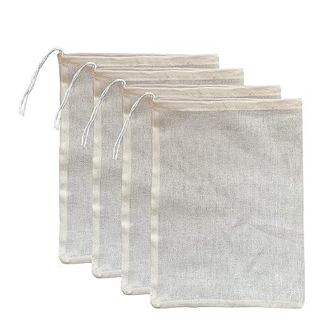 Amazon.com: Paquete de 2 bolsas de algodón natural premium ...