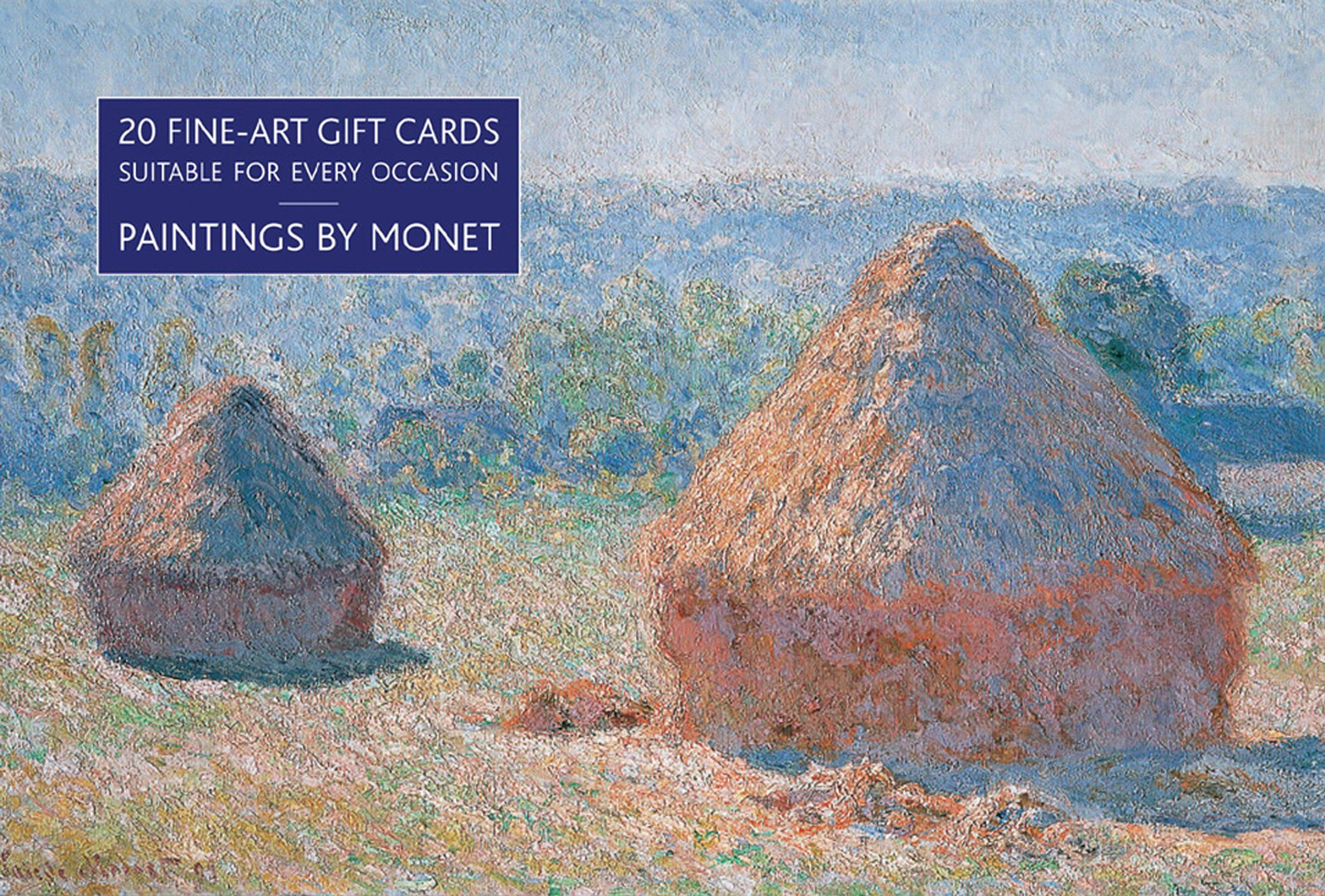 Card Box of 20 Notecards and Envelopes: Paintings by Monet: A delightful pack of high-quality fine-art gift cards and decorative envelopes