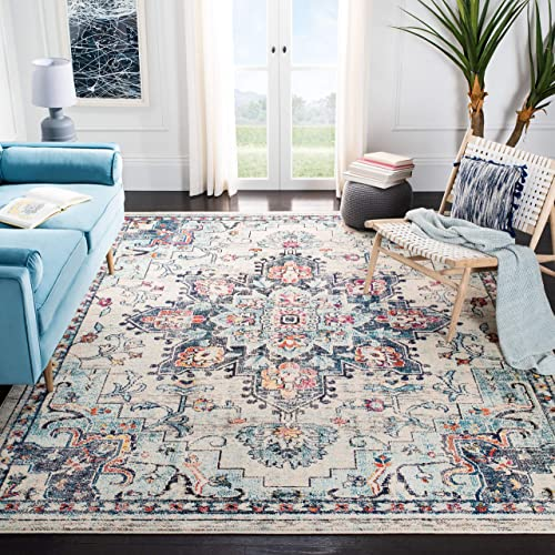 Safavieh Madison Collection MAD473B Boho Chic Vintage Distressed Medallion Area Rug