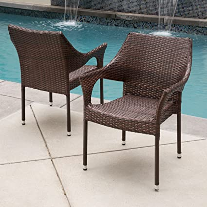 Del Mar Outdoor | Wicker Stacking Chairs | Set of 2 | Perfect for Patio | - Amazon.com: Del Mar Outdoor Wicker Stacking Chairs Set Of 2