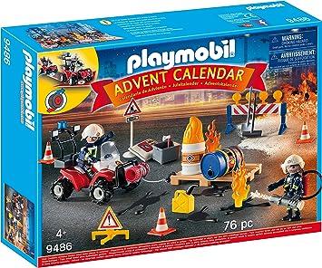 Amazon.com: PLAYMOBIL Advent Calendar   Construction Site Fire