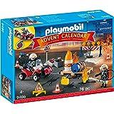 PLAYMOBIL Adventskalender 9486 brandmansinsats på byggarbetsplatsen, från 4 år