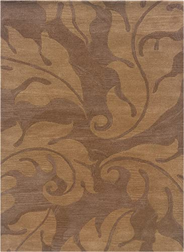 Linon Florence Collection Natural Fiber Rugs, 5 x 7 , Brown