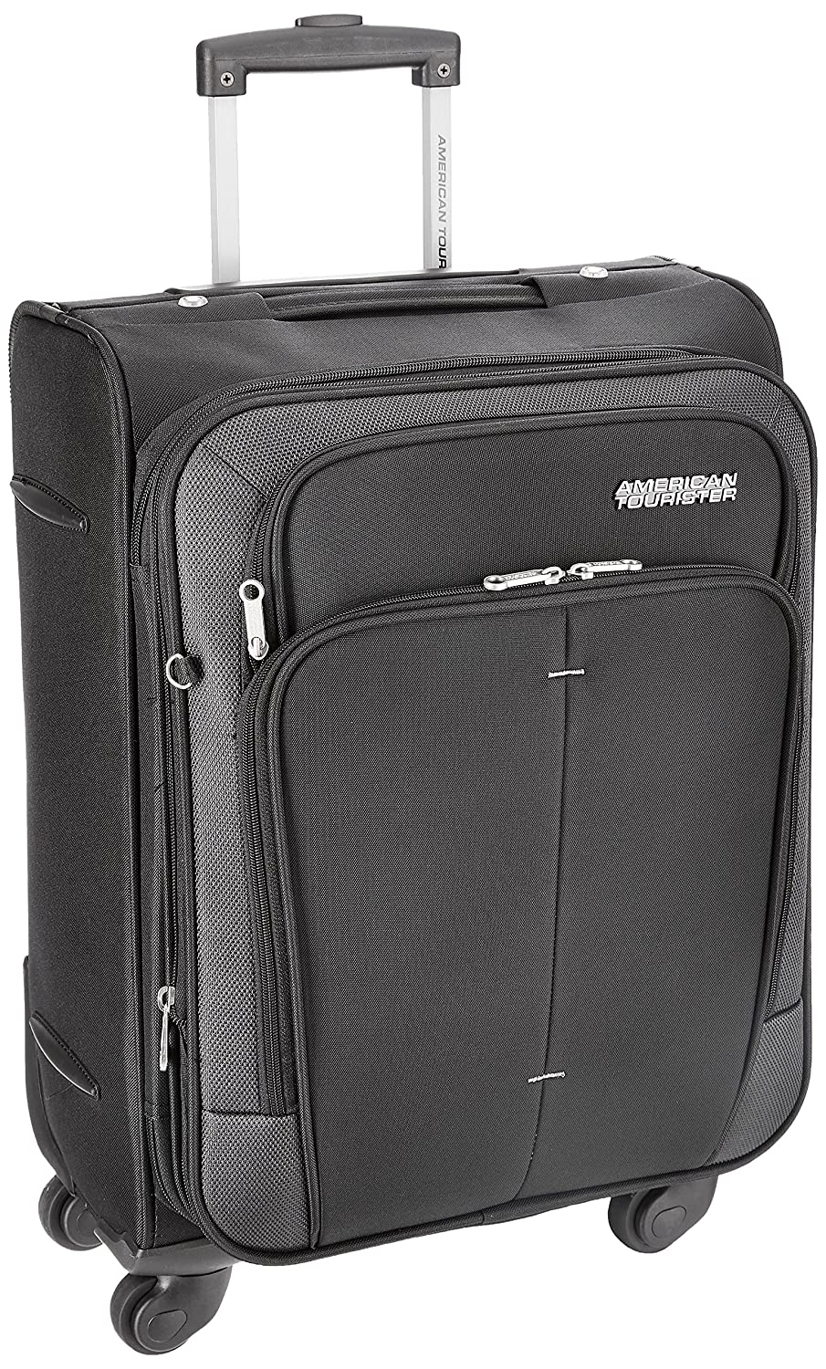 ef80a4262aa4 American Tourister Crete Polyester 55 cm Black Softsided Carry On (49W (0)  09 001)