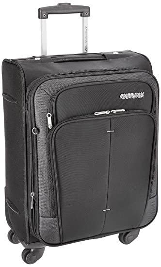 3c394e547212 American Tourister Crete Polyester 55 cm Black Softsided Carry On (49W (0)  09 001)