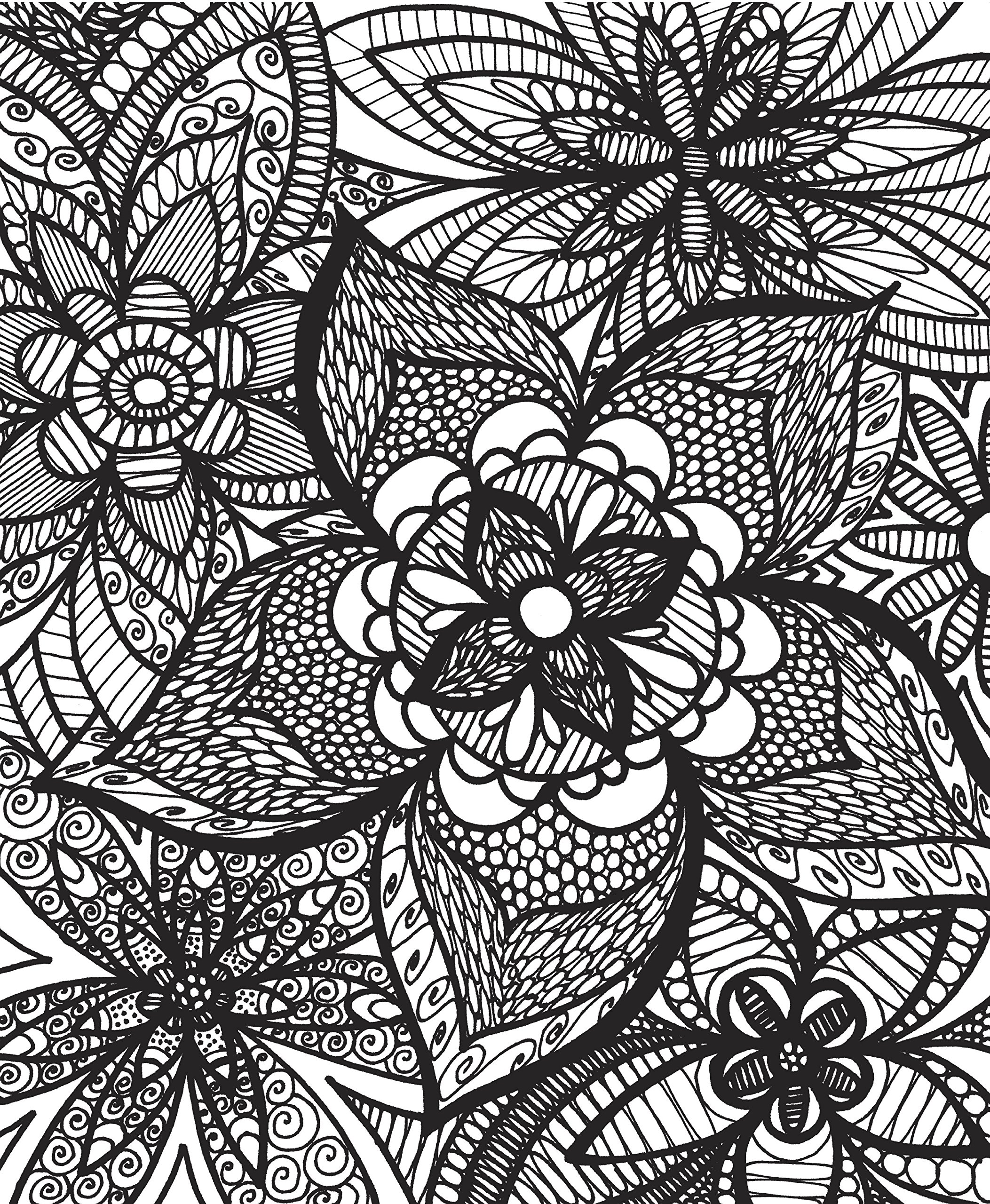 ColorIt Colorful Flowers Adult Coloring Book with Relaxing
