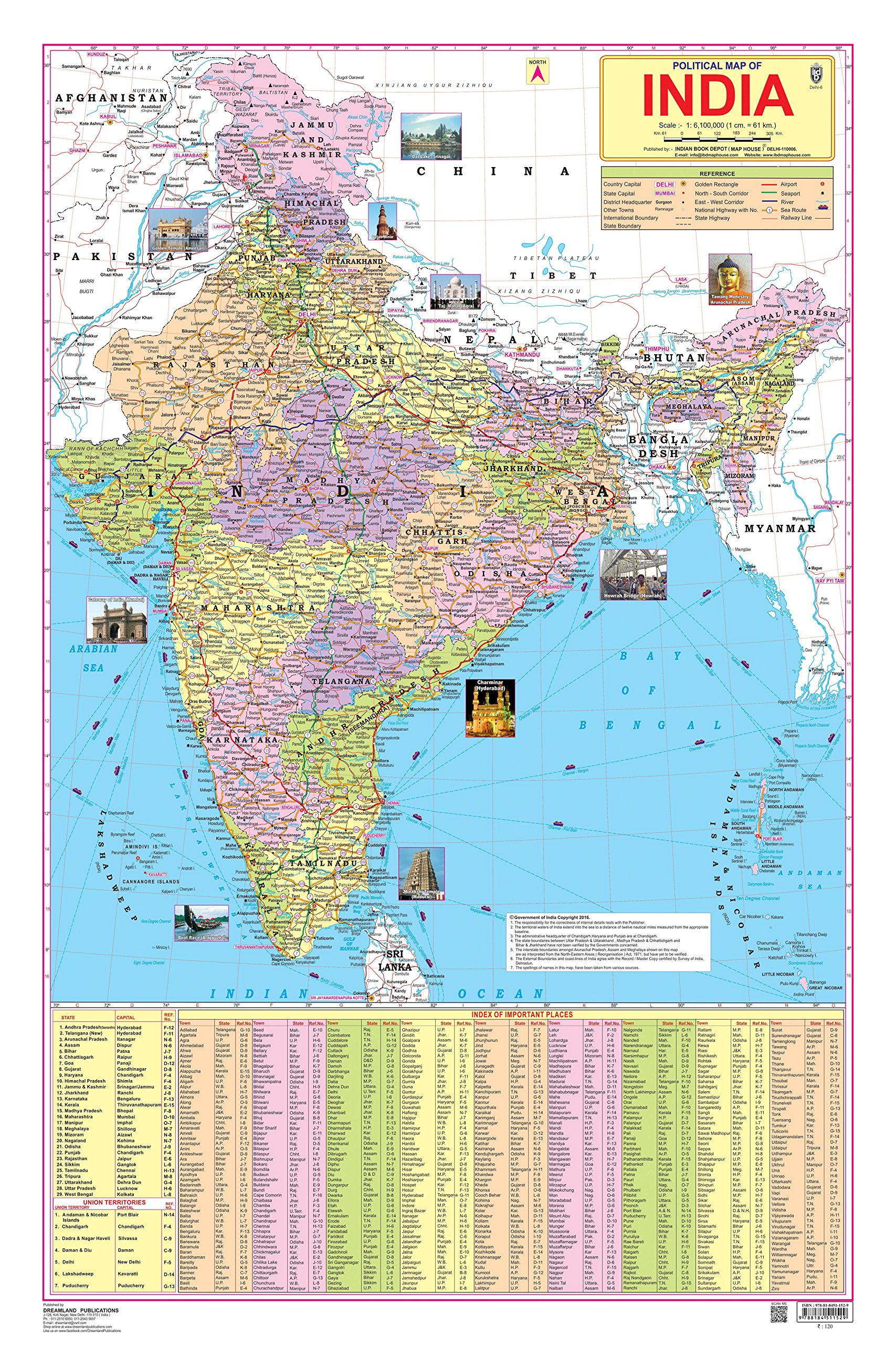 India Map With All States.Buy India Map Book Online At Low Prices In India India Map Reviews