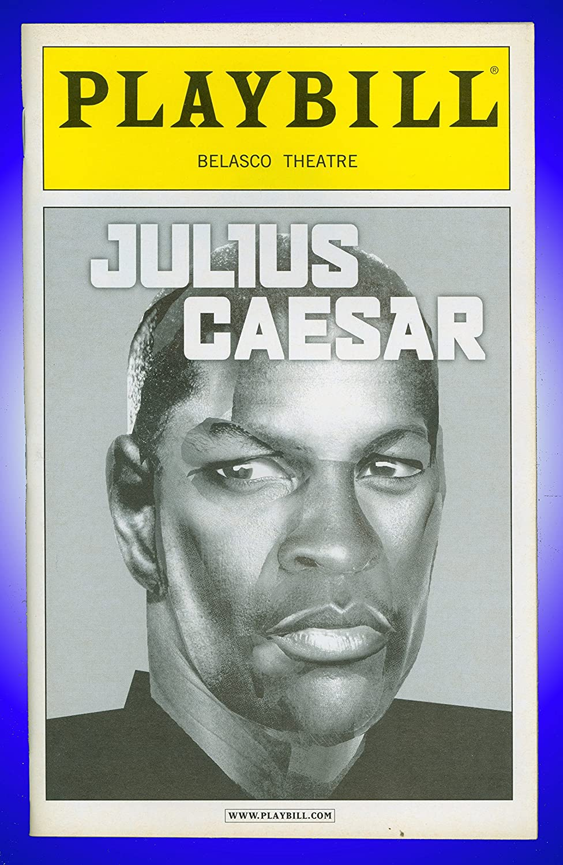 Julius Caesar, Broadway playbill + Denzel Washington , Jessica Hecht , William Sadler