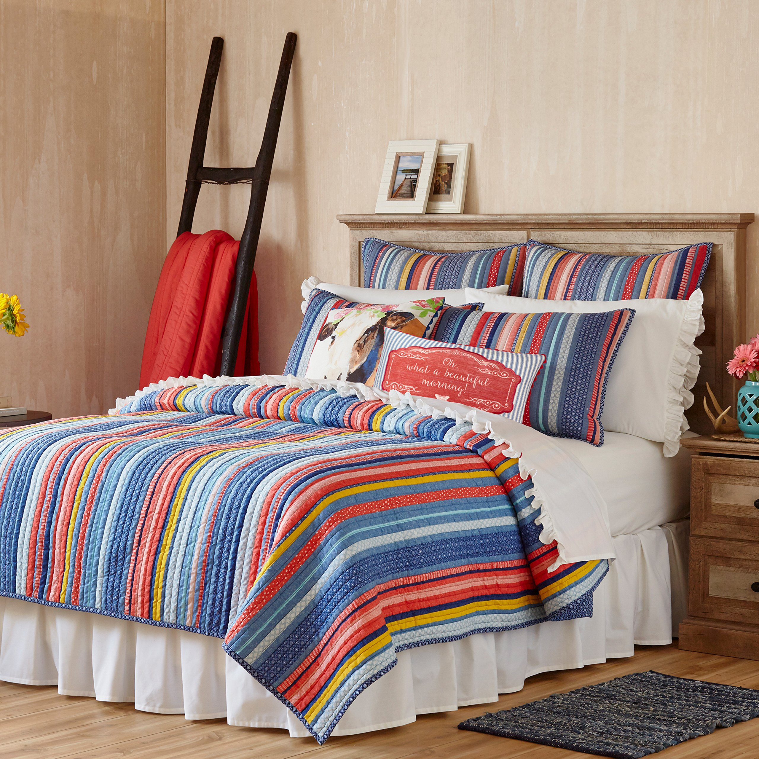 The Pioneer Woman Quilt Bedding Bedspread Barn Dance F/ Q King (Full / Queen 90'' x 90'')