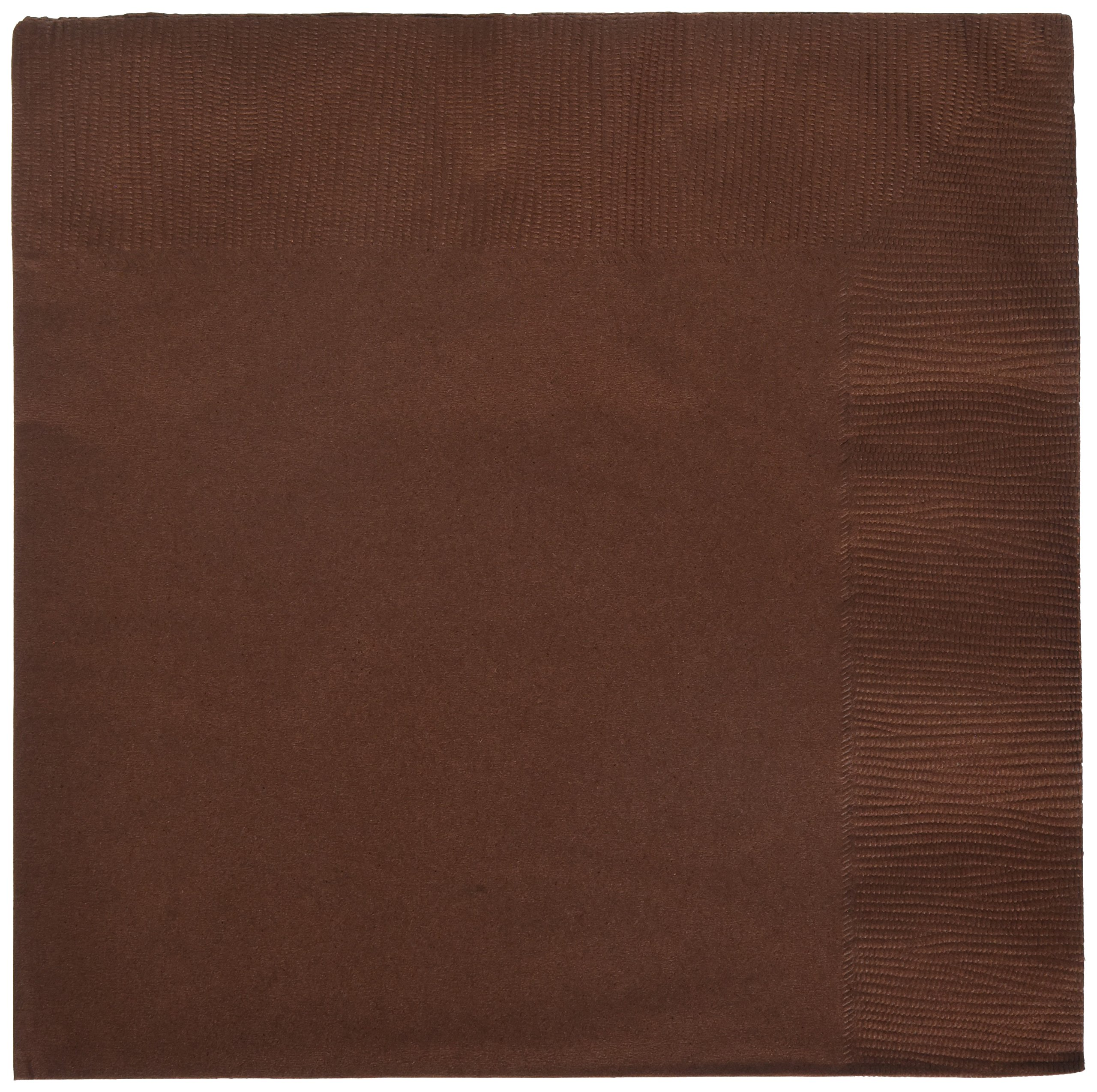Amscan Disposable 2 Ply Dinner Party Napkins Tableware (Pack of 20), Chocolate Brown, 7 X 7