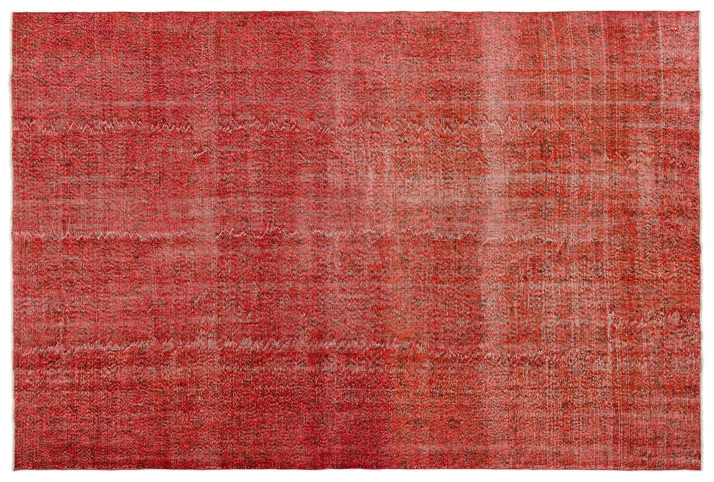 Bespoky ビンテージ 手織 ラグ 赤 大きいサイズ 213 X 317 Cm   B07HKZN578