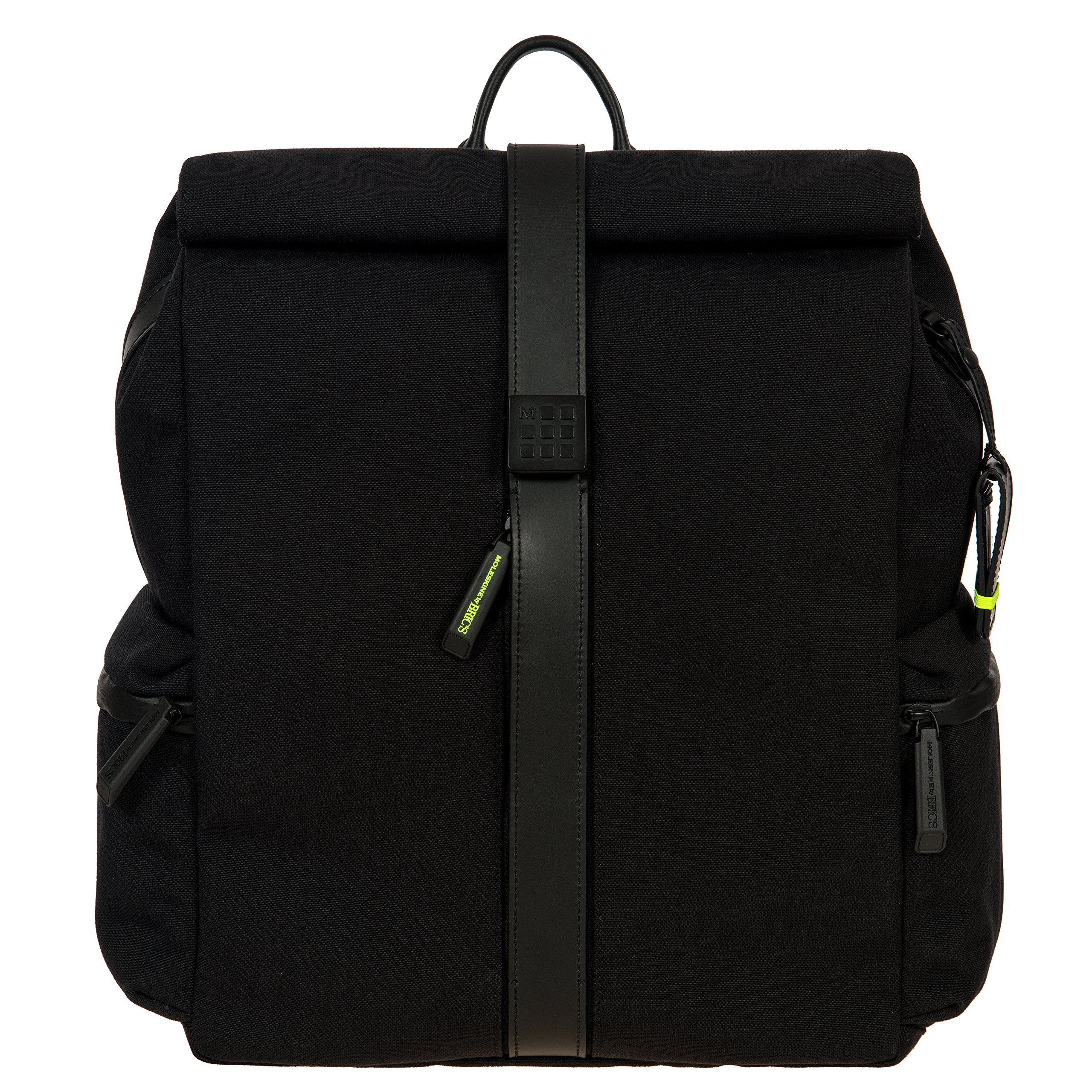 Moleskin by Bric's Roll-Top Laptop Backpack, Black, One Size