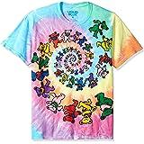 Liquid Blue Kids' Big Grateful Dead Spiral Dancing Bears Short Sleeve T-Shirt