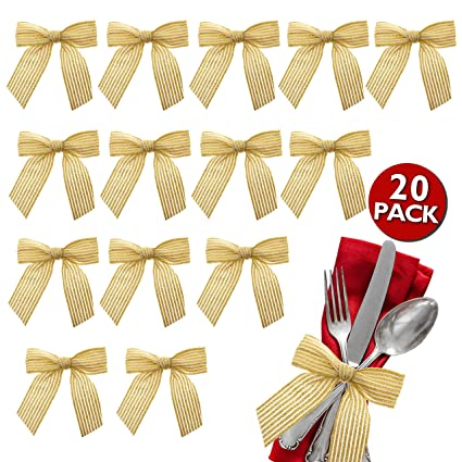 Vanilila Ribbon Bow Decoration Twist On Gift Tag Embellishments