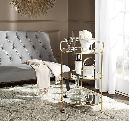 Safavieh Home Collection Dulcinea Gold Bar Cart, Steel