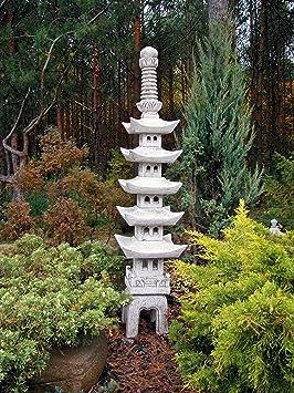 Enorme Piedra Pagoda Pagoda piedra lámpara OKI gata de piedra, resistente a las heladas.: Amazon.es: Jardín