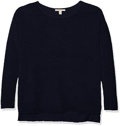 ESPRIT Damen Pullover 107EE1I014, Blau (Navy 400), Small 00cad7b665