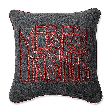 Amazon.com: Almohada perfecto Merry Christmas palabras GREY ...