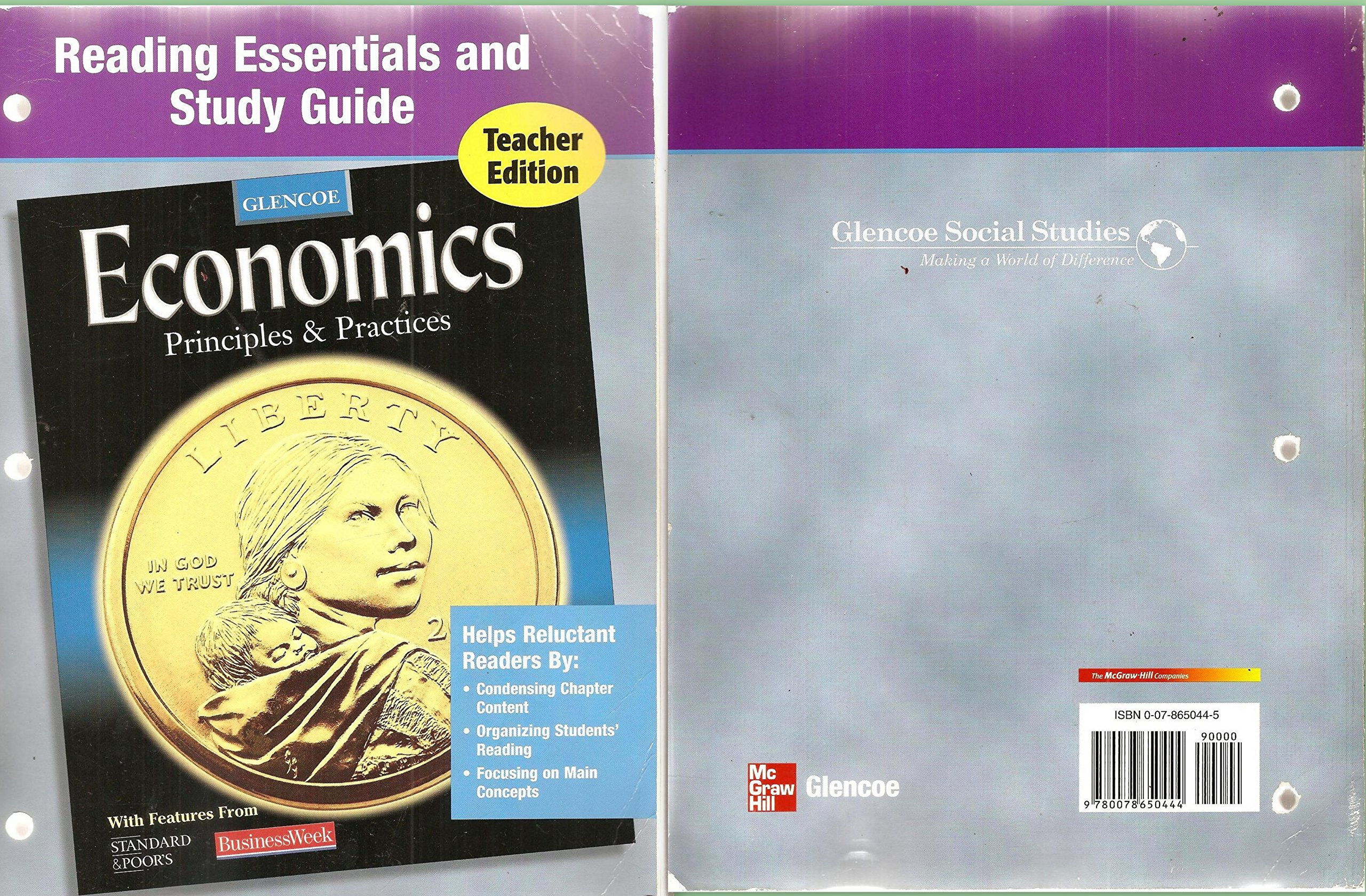 Reading Essentials and Study Guide for Glencoe Economics: Principles and  Practices: 9780078650444: Amazon.com: Books