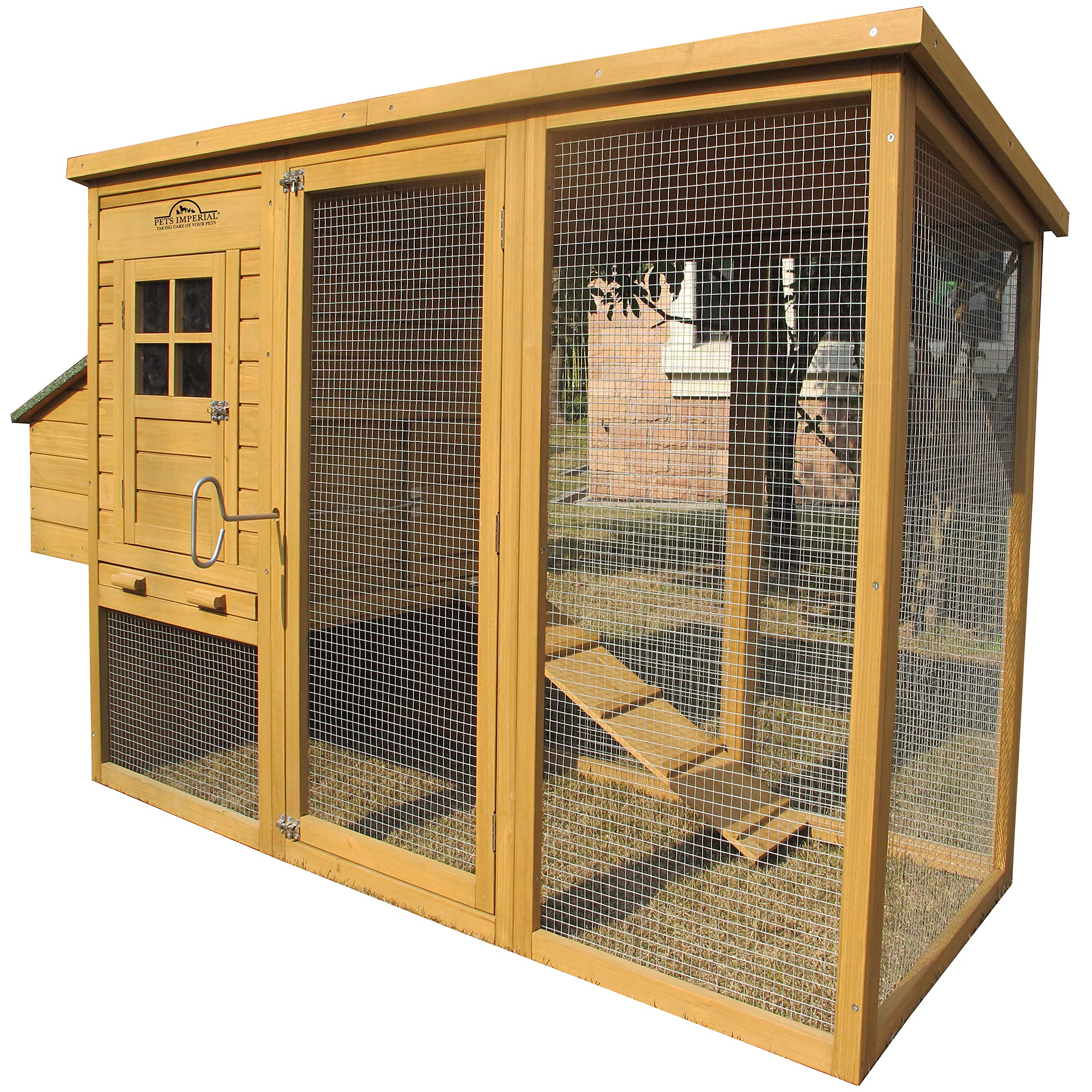 Pets Imperial Monmouth Large Chicken Coop 6ft 7'' in Length with Roof That Opens Suitable for Up to 4 Birds by Pets Imperial