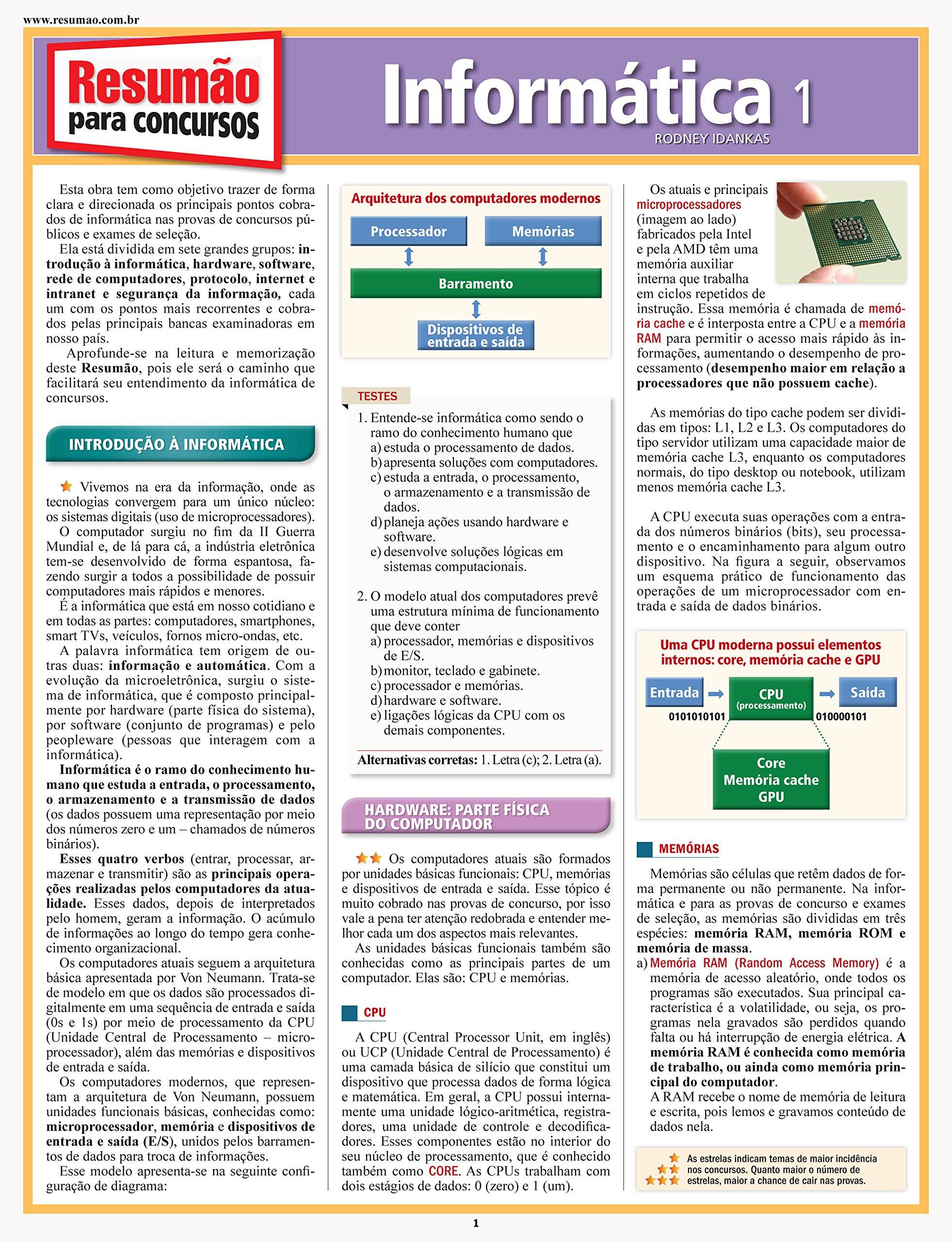 Concursos Informática 1 (Portuguese Brazilian) Flexibound – 2014
