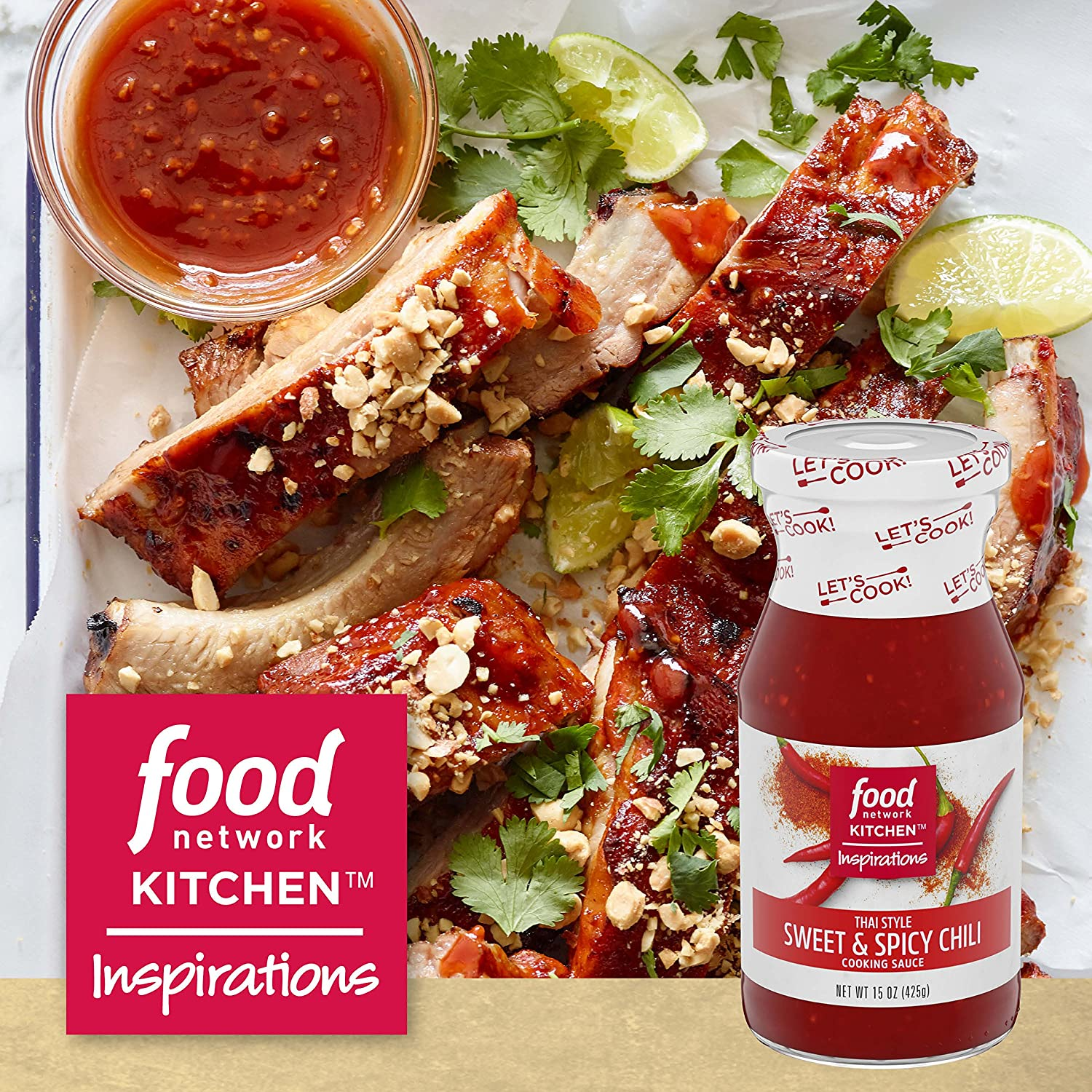 Amazon Com Food Network Kitchen Inspirations Thai Style Sweet Spicy Chili Cooking Sauce 15 Oz Bottle Grocery Gourmet Food