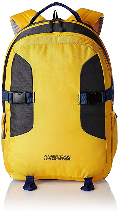 American Tourister Polyester 32 Ltrs Yellow Laptop Bag (AMT Buzz 2016 Backpack 05-YELW)